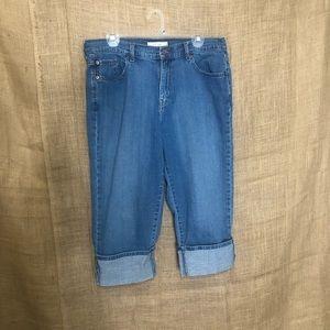 Levi's 515 SZ 14 Capri Jeans Cropped Women's Cute